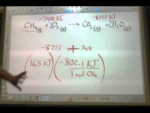 Enthalpy Problems 5 8 On The Worksheet Youtube