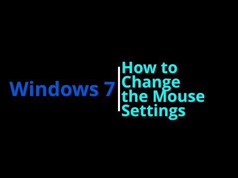 Windows 7 | How To Change Mouse Settings