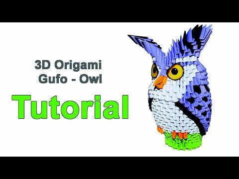 Origami 3d Owl Tutorial 1/32 Origami 3d...
