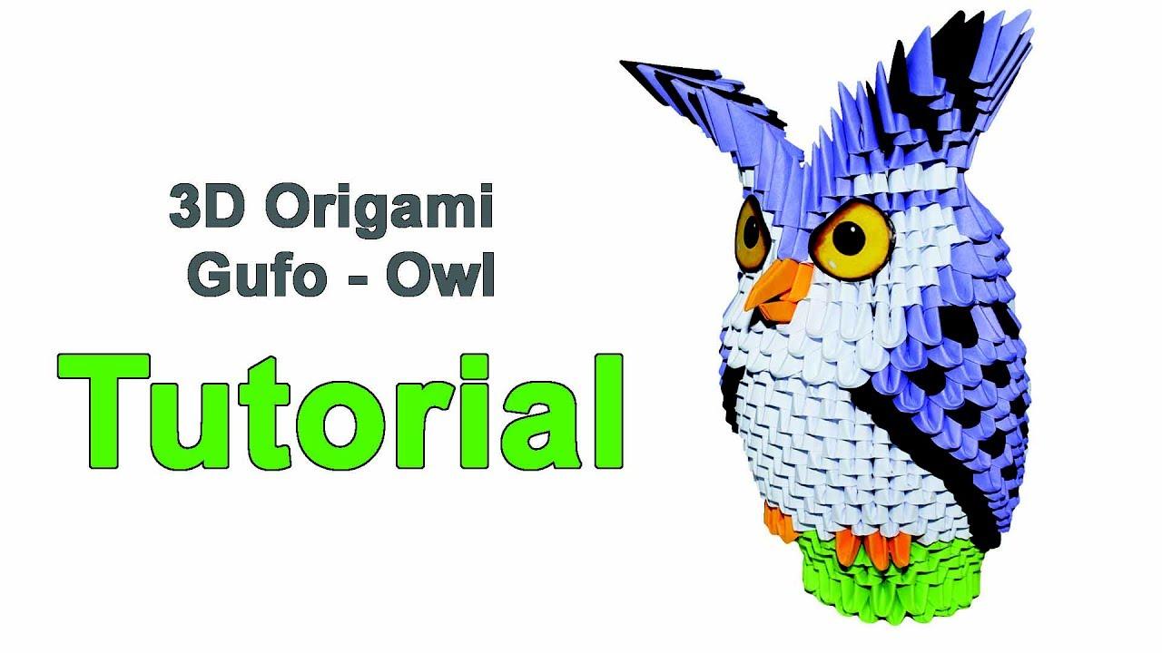 Origami 3d Owl Tutorial 1 32 Gufo