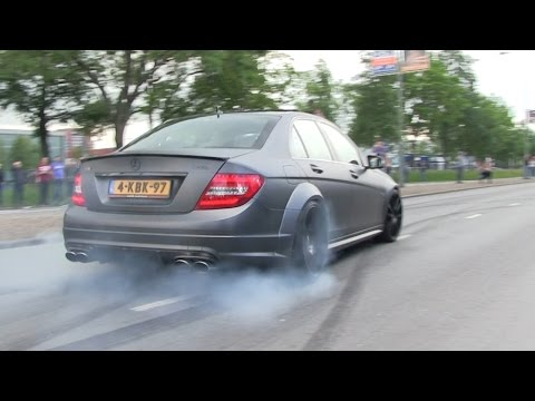 Supercars Leaving | Cars & Coffee Dordrecht | CRAZY BURNOUTS, DRIFTS & ACCELERATIONS!