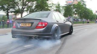 Supercars Leaving | Cars & Coffee Dordrecht | CRAZY BURNOUTS, DRIFTS & ACCELERATIONS!