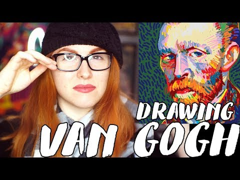 Drawing Vincent Van Gogh in the Video Game Passportout! // Rad Art with Beth Be Rad | SNARLED