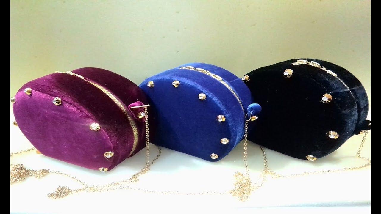 1b2d4b9963523 طريقة صنع حقيبة يد أنيقة للأعراس و السهرات من الكرطون و القماش( الجزء  الثاني)