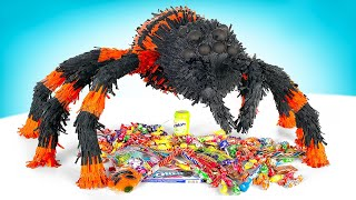 Huge Spider Which Drowns You In Candies | HOMEMADE PINATA