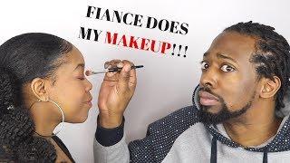MY FIANCE DOES MY MAKEUP| FRANÇAIS  | Shelby Bj