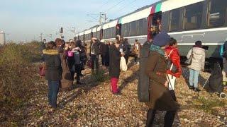 Les usagers du RER B bloqués par une panne géante