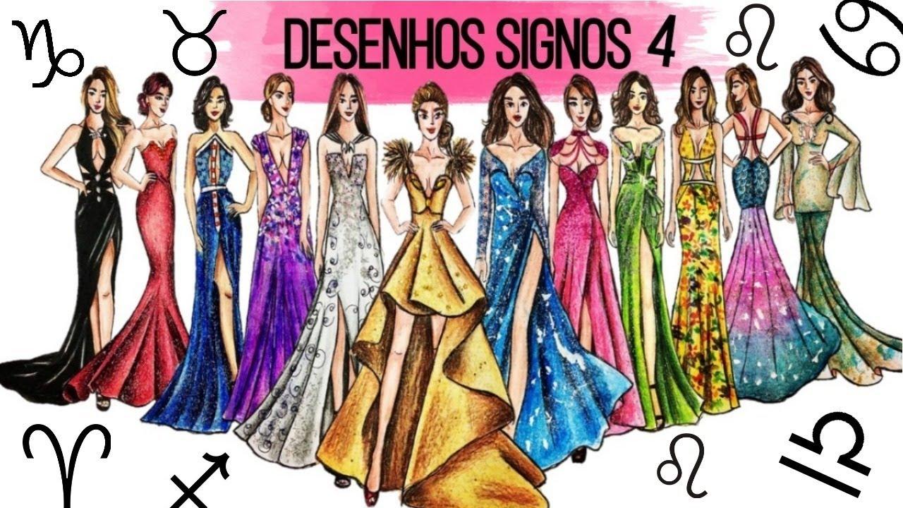 Desenhando O Vestido De Cada Signo
