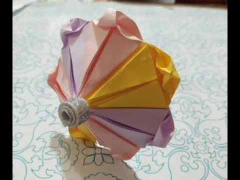 Origami Umbrella easy folding instructions - Paper Umbrella making ... | 360x480