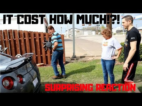 PARENTS REACT TO SON BUYING A NISSAN GTR! ( SURPRISE REACTION )