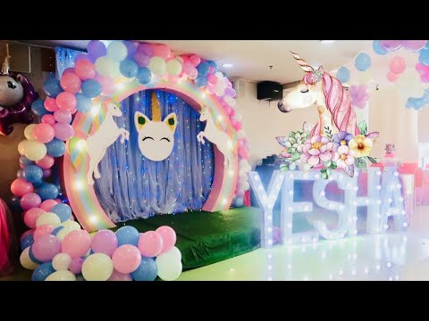 MY UNICORN THEMED 10TH BIRTHDAY PARTY! + MAY SURPRISE GUEST? 😍   YESHA C.