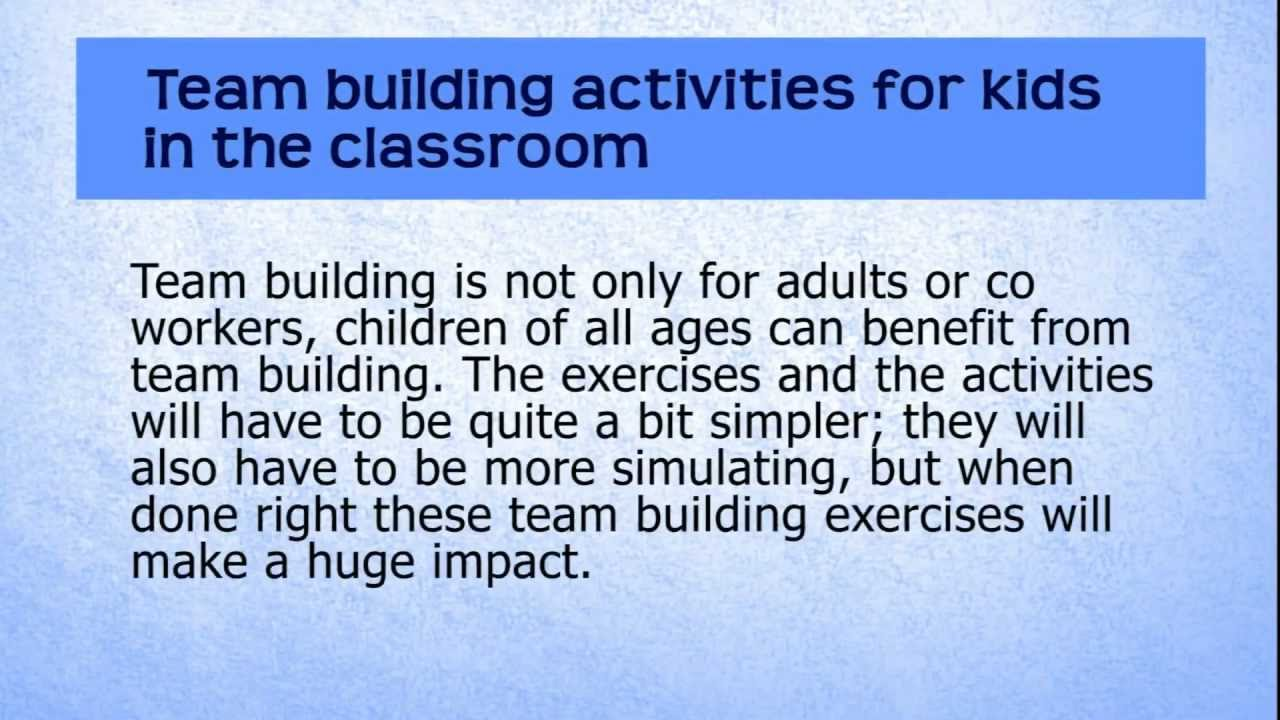 Team Building Activities For Kids In The Classroom Youtube