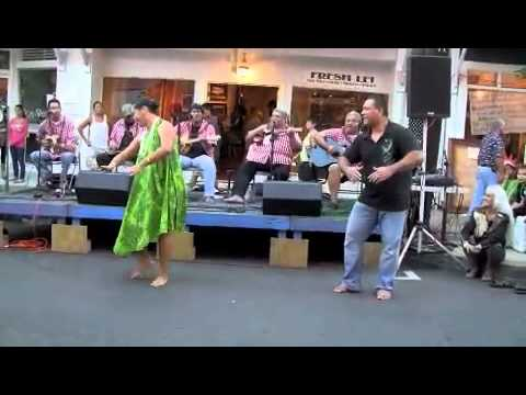 Pekelo Cosma with Ola Hou & dancers
