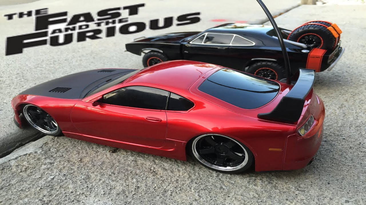 Fast And Furious 7 Dodge Charger Off Road RC Car U0026 Toyota Supra   Jada Toys    YouTube