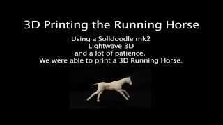 3D Printed Running Horse Animation