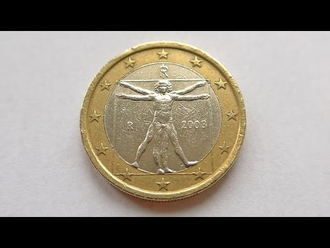 1 euro coin italy 2003 youtube. Black Bedroom Furniture Sets. Home Design Ideas