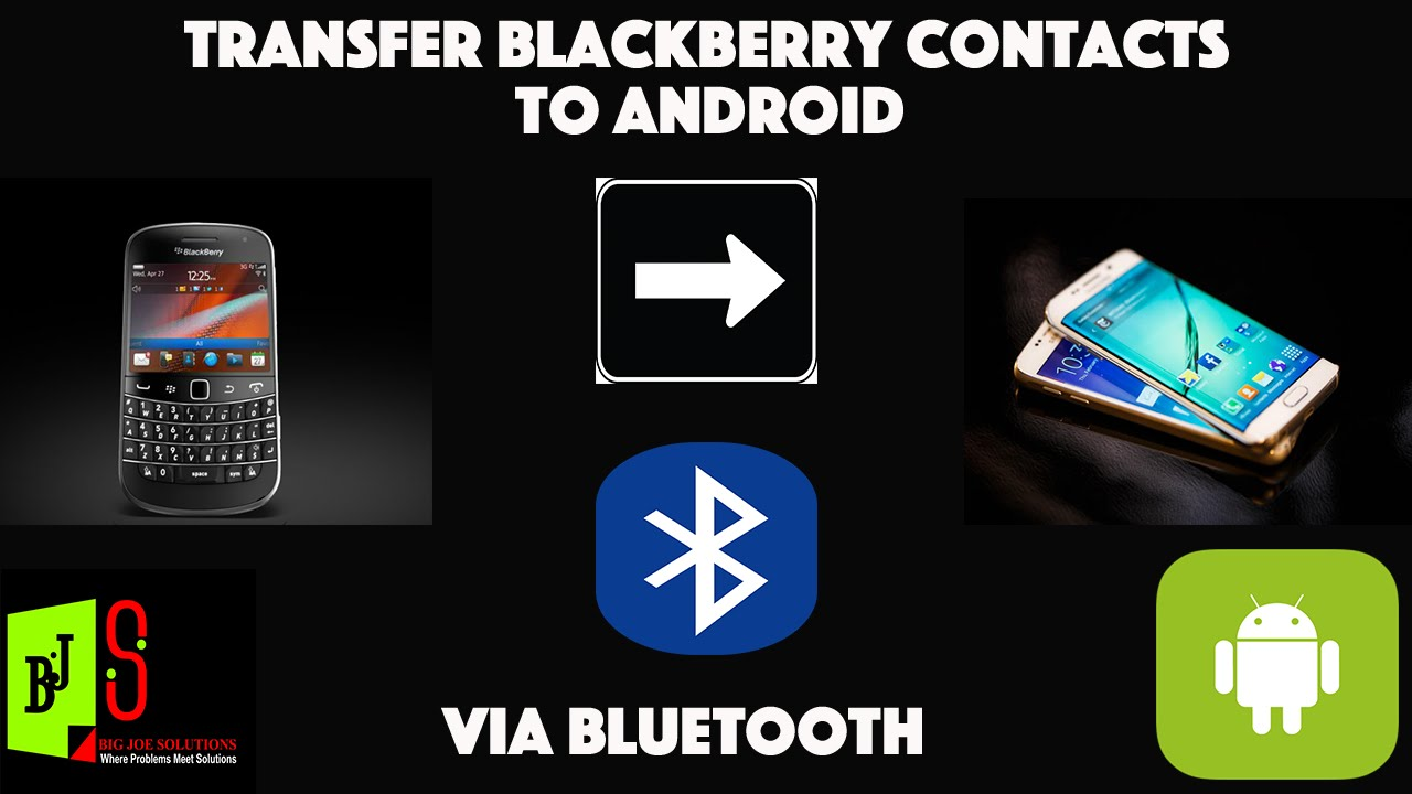 how to transfer blackberry contacts to android without google sync
