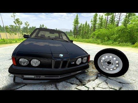 РУССКИЕ ДОРОГИ УБИЙЦЫ! ЛЁХА ПОТЕРЯЛ BMW!   BeamNG.drive