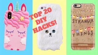 DIY Phone Case Life Hacks! Top 20 Phone DIY Projects  Popsocket Crafts 2018! #yes