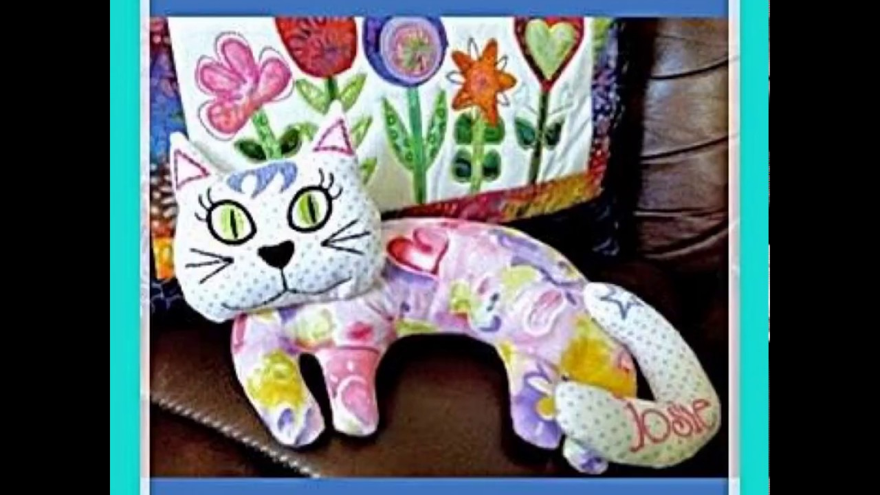 Kerry The Cat Stuffed Toy Ith In The Hoop Machine Embroidery