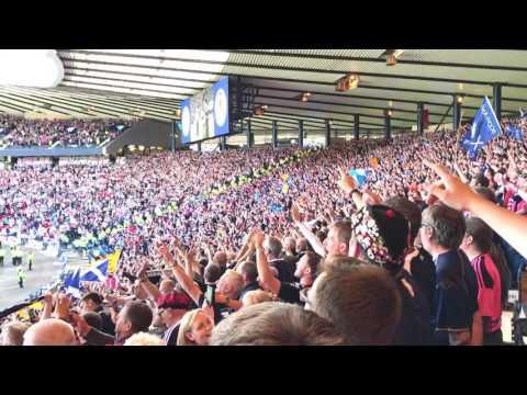 Scotland Vs England - National Anthems - Hampden Park 10/06/17