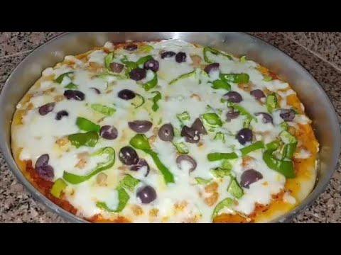 صورة  طريقة عمل البيتزا طريقه عمل البيتزا بالجمبري سهله جدا و روعه♥️♥️ طريقة عمل البيتزا من يوتيوب