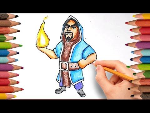 Как Нарисовать МАГА / КОЛДУНА из Клаш Оф Кланс / How to Draw Wizard | Clash of Clans