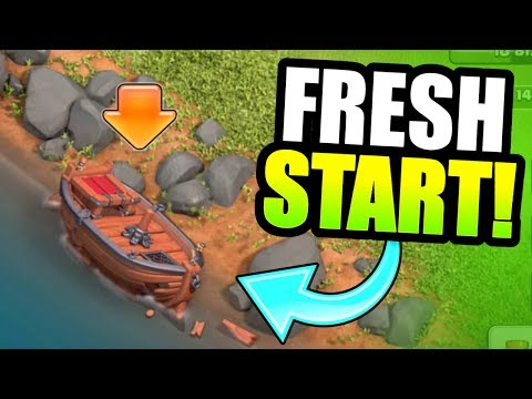 IT'S TIME TO START AGAIN! - Clash Of Clans - BUILDERS VILLAGE 2.0