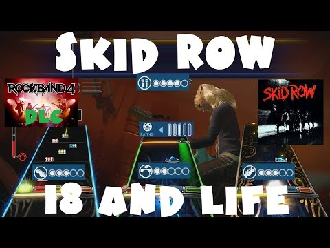 Skid Row  18 and Life  Rock Band 4 DLC Expert Full Band December 21st, 2017