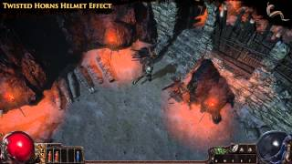 Path of Exile - Twisted Horns Helmet Effect