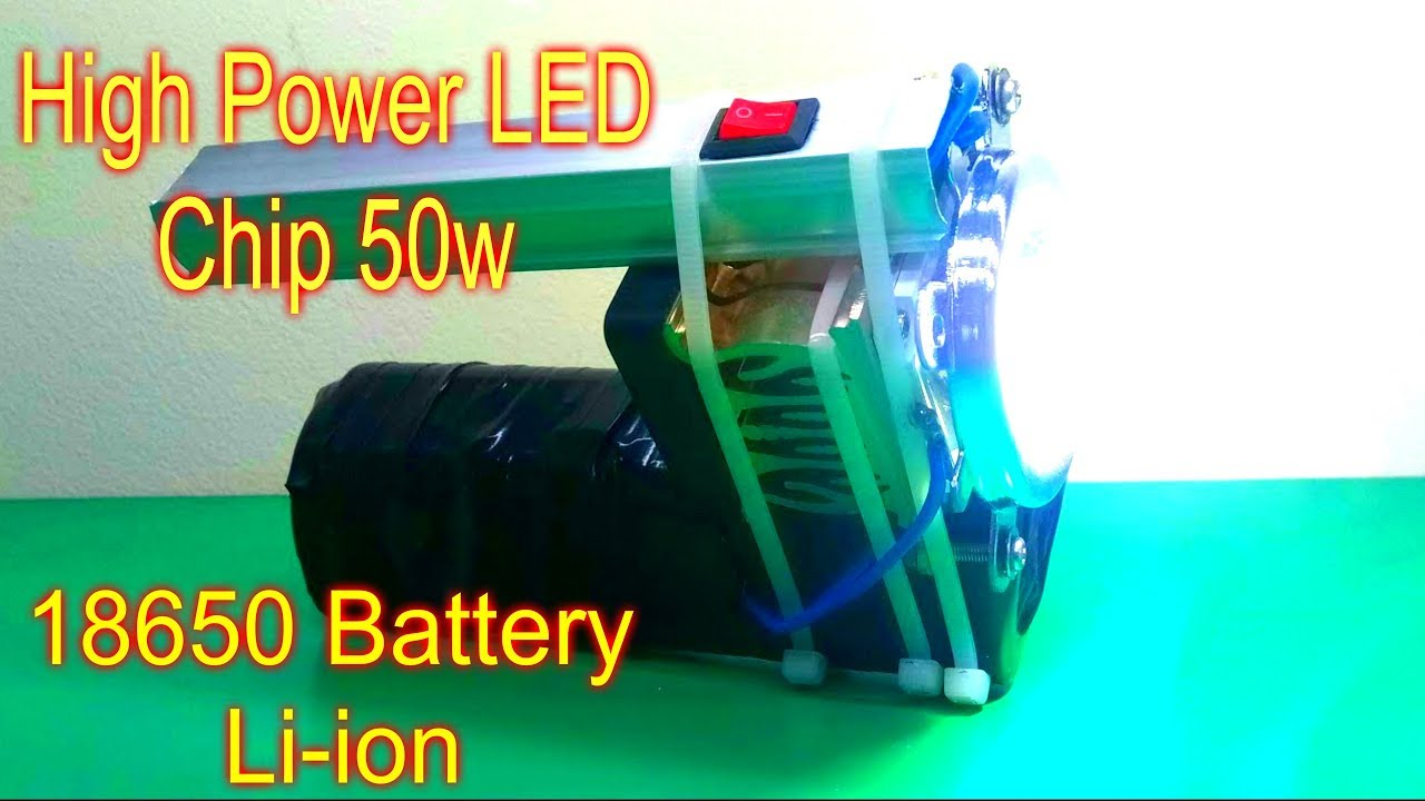 Most Powerful Homemade DIY Flashlight With High Power LED ...