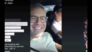Andy Cohen and John Mayer on Periscope - 6/27/2015