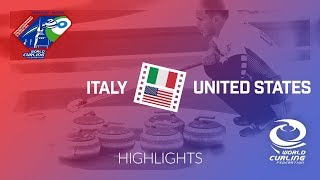 HIGHLIGHTS: Italy v United States - World Mixed Doubles Curling Championship 2018