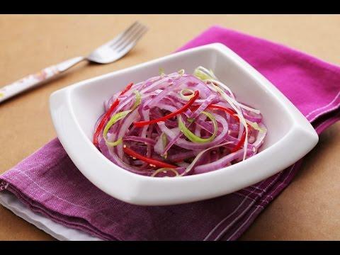 【楊桃美食網-3分鐘學做菜】酸辣拌洋蔥