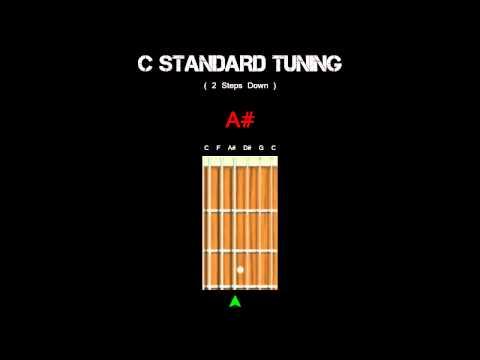 Guitar Tuning - C Standard ( 2 Steps Down )