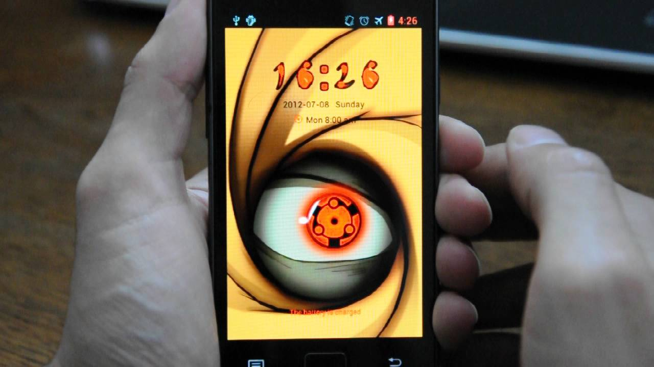 Madara sharingan locker theme android - video dailymotion