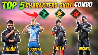 Top 5 Best characters Skill Combo For All Players In Free Fire | Tips And Tricks