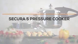 f8ba58c3e Wonderchef Secura 4 Stainless Steel Pressure Cooker Silver Black ...