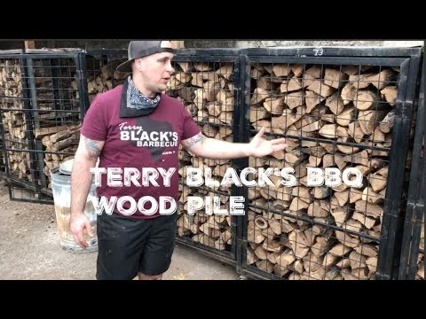 Tour of Terry Black's BBQ WOOD PILE - Austin, Texas