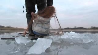 Зимняя рыбалка, снимаем сети, судак, лещ..