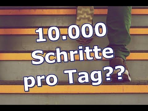 Schritte zählen zum Abnehmen - Schaffst du 10.000 Schritte am Tag?