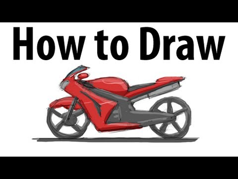 How To Draw A Motorcycle Sketch It Quick YouTube