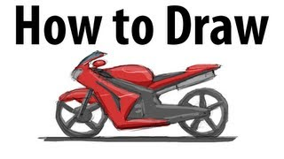 How to draw a motorcycle - Sketch it quick!