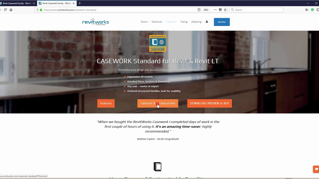 Revit Casework Family - RevitWorks