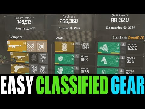 THE DIVISION - EASIEST WAY TO GET CLASSIFIED GEAR AFTER GLOBAL EVENTS! (THE DIVISION TIPS & TRICKS)