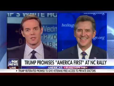 Sen. Jim DeMint on Fox News America's Newsroom discussing VP Elect Pence Speech