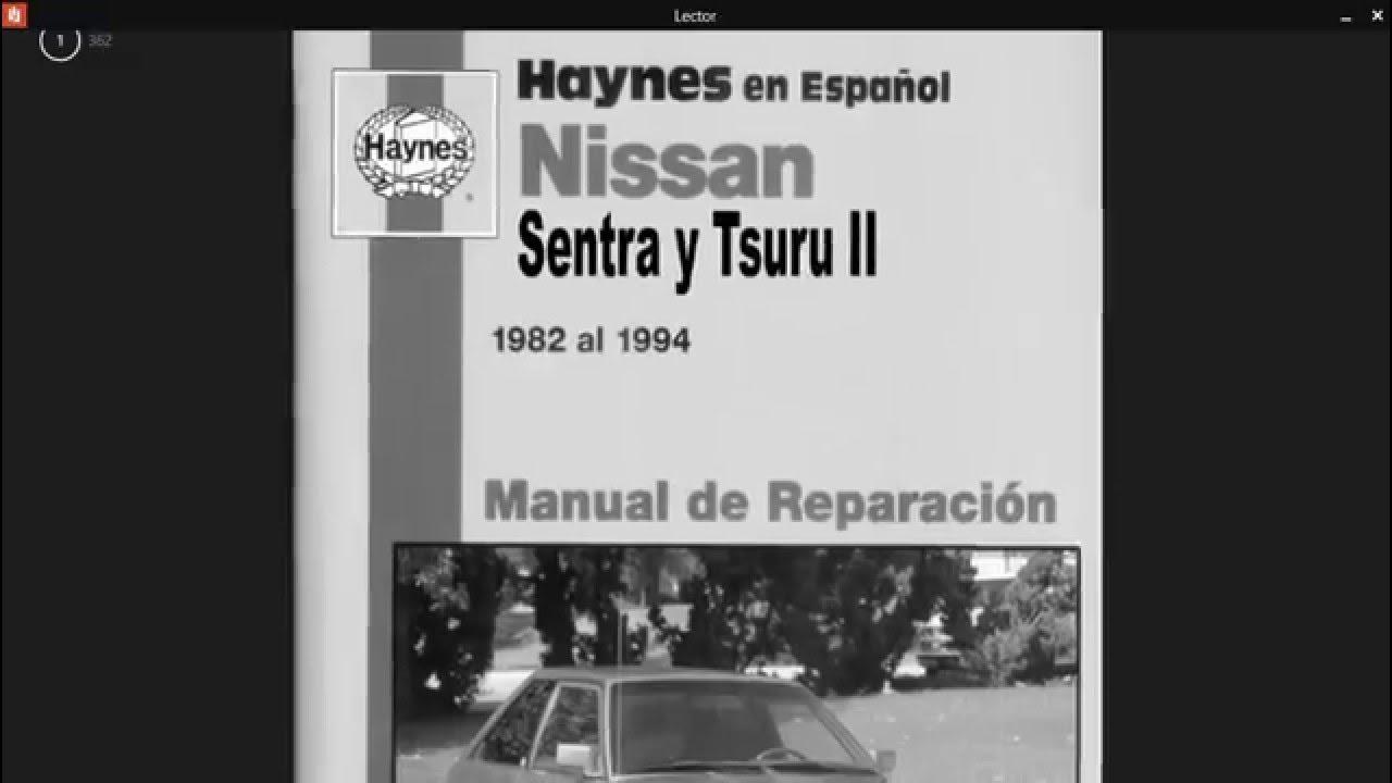 Manual de reparacion de tsuru ii y iii haynes espa ol pdf for Manual de viveros forestales pdf