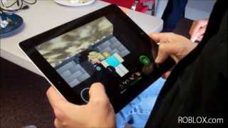 Testing ROBLOX on the iPad at ROBLOX HQ