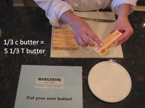 How many tablespoons is 1/3 cup of butter