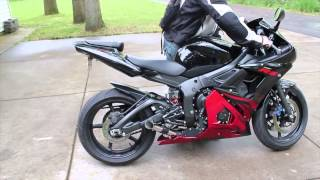 LOUD!!! Yamaha R6   Shorty Exhaust REVIEW